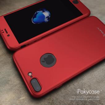 iPaky sangat tipis 360 penuh untuk iphone 7 Plus kasus + pelindung layar anti gores full