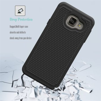 For Samsung Galaxy A3(2016) A310 Case Heavy Duty Armor Shock Absorbing Dual Layer Hybrid Rugged Rubber Cover Case - intl - 5