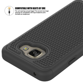 For Samsung Galaxy A3(2016) A310 Case Heavy Duty Armor Shock Absorbing Dual Layer Hybrid Rugged Rubber Cover Case - intl - 2