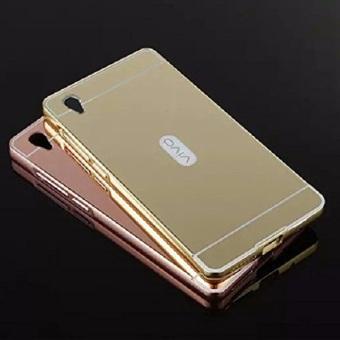 ... Case Vivo Y51 Bumper Mirror Slide 2 Pcs Gold dan Hitam 3