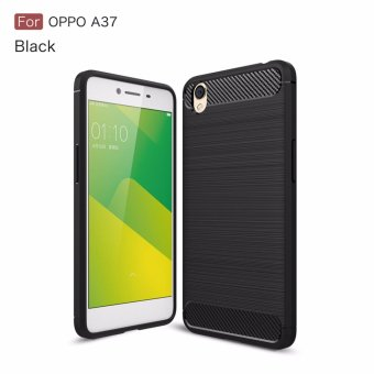 Harga Phone Cases For oppo A37 ON9 F3 PLUS Case Cover Back For oppo A37 ON9 F3 PLUS Case Silicone Carbon Fiber Brushed TPU Mobile Phone Cases (black) - intl