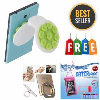 Harga Geko Sucker Phone Holder - Multicolour + Gratis 1 Buah Ring Stent + 1 Buah Waterproof HP