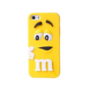 Harga BUYINCOINS MMS Chocolate Candy Rubber Silicone Cartoon Phone Case For iPhone 5 5C 5S
