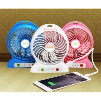 Lucky - Power Bank Portable With Kipas Angin Mini Fan + Gratis Kabel .