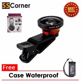 Harga Universal Lensa Super Wide 0.4 With Clip + Gratis Case Water Proof