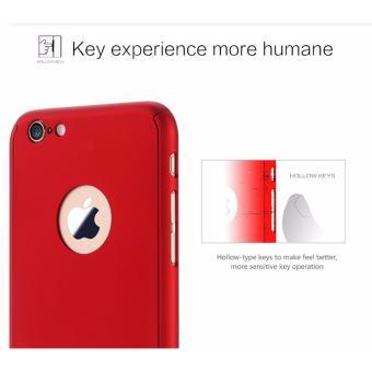 ... Hardcase Case 360 Iphone 6+/6 Plus Casing Full Body Cover - Merah +