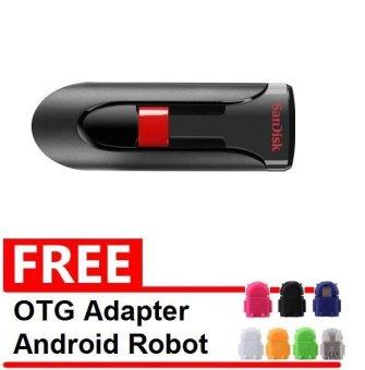 ... SanDisk Flash Disk Cruzer Glide 32 GB Gratis OTG Adapter Android Robot Warna Random