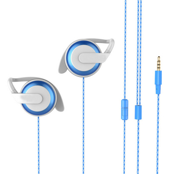Harga TTLIFE Earphone with Microphone Gaming Headphones for a Mobile Phone Earhook(blue)