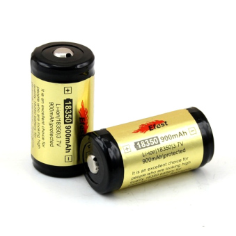 Harga Efest 18350 Li-ion Protected 2x Battery 900mAh with Button Top - Hitam/Kuning
