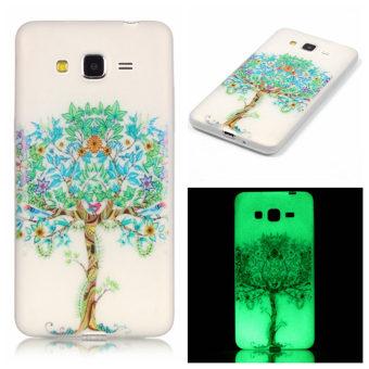 Bercahaya neon Glow gel silikon lembut dan ultra tipis kasus menutupi belakang TPU untuk Samsung Galaxy