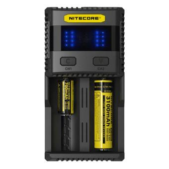 Harga Nitecore SC2 Superb Speedy Charger 2 Slot 3A for Li-ion and NiMH Charger Battery / Baterai / Batre / Batere