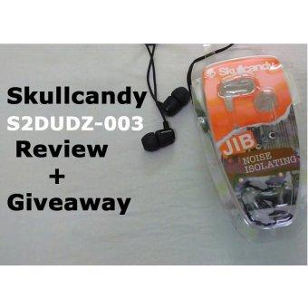 Skullcandy JIB S2DUDZ-003 Earphones 3.5mm - Hitam - 5 .