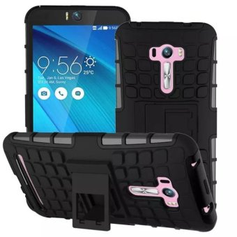 Harga Compatible for Asus ZenFone Selfie Dual Layer 2 in 1 Rugged Rubber Hybrid Protective Armor Phone Cover Case with Kickstand VROOM - intl
