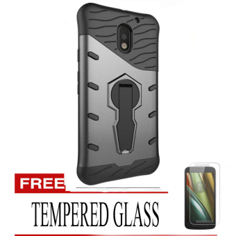 ... Dual Layered TPU+PC Hybrid Back Cover Phone. Source · Case Hybrid Sniper Slim Armor with 360 Degrees Rotation Durable Kickstand for Moto E3 - Hitam