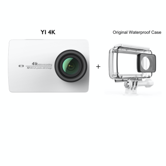 Harga Xiaomi YI International 4K Action Camera II (White) + Original Waterproof Case