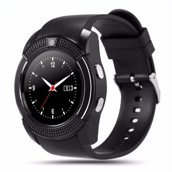 Harga BLN V8 Smart Watch Clock With Sim TF Card Slot Bluetooth Connectivity for Apple iPhone Android Phone Smartwatch Watch (Black) - intl