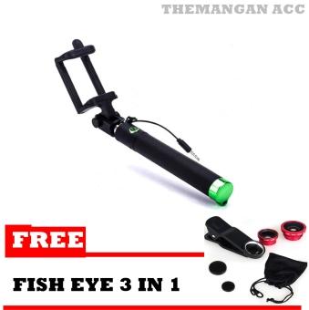 Tongsis Kabel U Black Edition Limited - Monopod Tongkat Narsis + Free Fish Eye