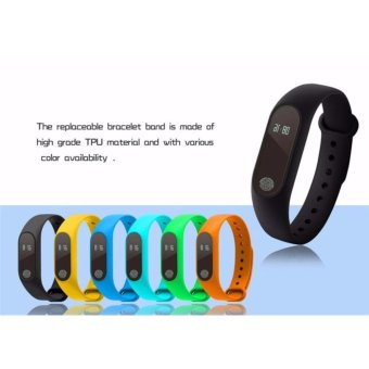 2017 New M2 Smart Bracelet Heart Rate Monitor Bluetooth Smartband Health Fitness Tracker Smart Band Wristband for Android iOS - intl - 2