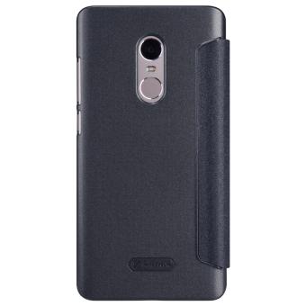 Nillkin Flip Case Sparkle Leather Case Xiaomi Redmi Note 4 Black Hitam .