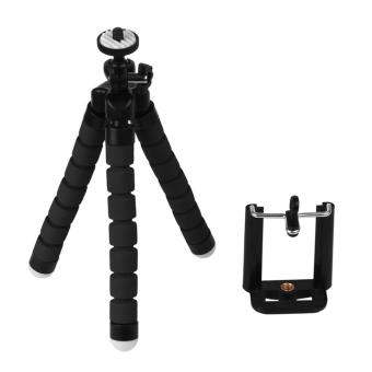 Harga Tripod Flexible Octopus Bracket Holder Stand Mount for Cell Phone Samsung Camera Black - intl