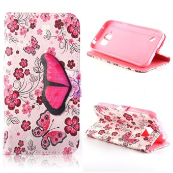 Moonmini PU Leather Flip Stand Wallet Card Slots Case Cover for Samsung Galaxy S6 Active (