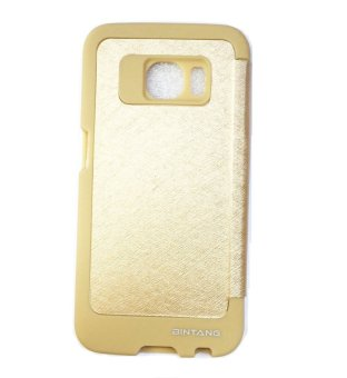 Harga Case Flip Cover View Samsung S6 Edge SM-G925 - Gold