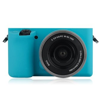 Soft Silicone Gel Rubber Camera Case Cover for Sony A6000(Blue) - intl