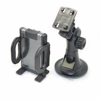 Car Universal Holder Dudukan Handphone untuk Mobil Hitam 2 .