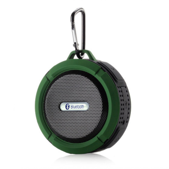 Harga YBC Wireless Bluetooth Speakers Waterproof Dustproof Mini Portable Stereo Speaker Subwoofer Green