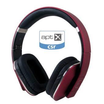 Harga August EP650 Bluetooth Wireless Stereo Headphone Earphone with Microphone and NFC (Red) - Intl
