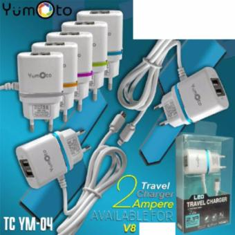 Harga yumoto Charger Travel Adapter Micro 2 USB LCD YM-04 warna random