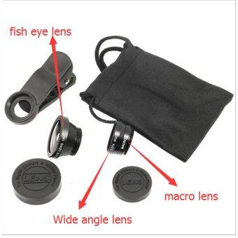 Fish Eye Lensa 3in1 Untuk Asus Zenfone 6 Hitam 3 .
