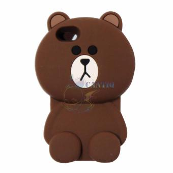 Harga QCF Silicon Case 3D For Apple iPhone 5G / iPhone 5S / iPhone 5SE / Iphone5G / Iphone 5S / Iphone 5SE Soft Back Case Beruang Cokelat Polos - Boy Bear