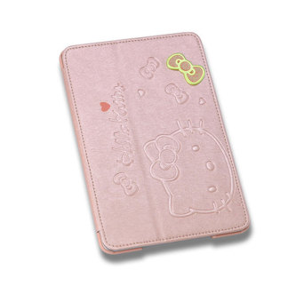 Leegoal Pink Cute Hello Kitty With Stand Angle View Flip Leather Case Cover for Apple iPad