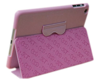 Leegoal Pink Cute Hello Kitty With Stand Angle View Flip Leather Case Cover .