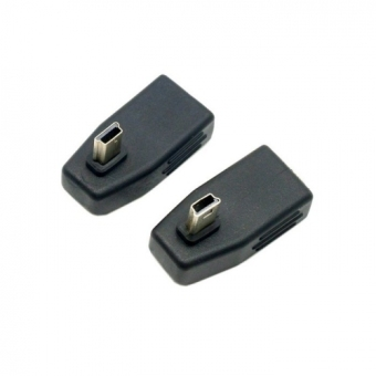 Harga 2 pcs 90 Degree Left & Right Angled Mini USB Type B to USB Female OTG Adapter for Tablet & Cell Phone