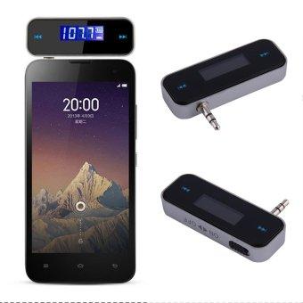 O baru mobil mini fm pemancar FM dengan kabel USB Kit Musik Untuk Ponsel Hitam