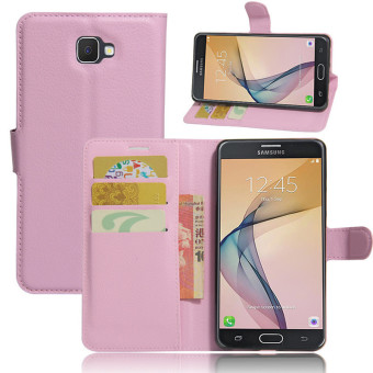 Wallet Flip Leather Case For Samsung Galaxy J7 Prime/Samsung Galaxy On7 2016 (Pink) - intl ...