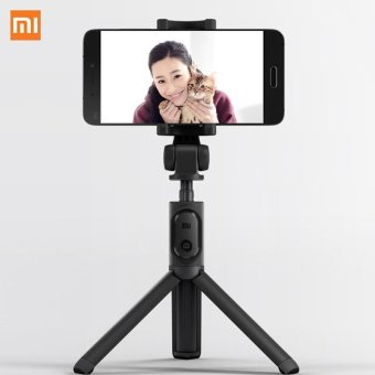 Harga Original Xiaomi Foldable Handheld Tripod Monopod Selfie Stick Bluetooth With Wireless Button Shutter Selfie Stick For Android An - intl