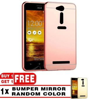 Case Metal for Asus Zenfone Go ZB452KG Aluminium Bumper With Mirror Backdoor Slide - Rose Gold