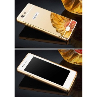 Case For Oppo Neo 5 / A31 Bumper Slide Mirror - Gold + .