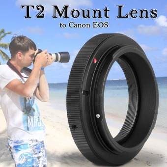 Harga Adapter Ring For T2 T Mount Lens to Canon EOS Camera 70D 600D 700D 1200D