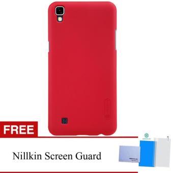 Nillkin For LG X POWER / K220Y Super Frosted Shield Hard Case Original - Merah +