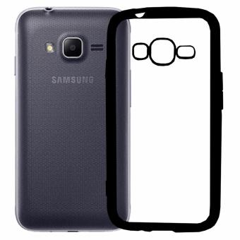 Harga Softcase Silicon Jelly Case List Shining Chrome for Samsung Galaxy V / V Plus - Black
