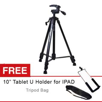 "Harga Fotopro Tripod Digi-9300 - Hitam + Gratis Universal U Holder for IPAD 10"" + Tripod Bag"
