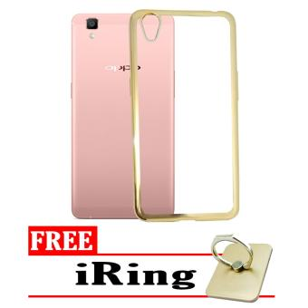 Softcase Silicon Jelly Case List Shining Chrome for Oppo Neo 9 (A37) - Gold
