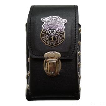 Tempat HP Harley Davidson Police Kulit Asli