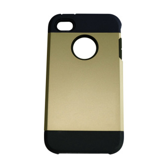 Harga Case For iPhone 4G / iPhone 4s / iPhone4 Back Case Slim Armor- Gold