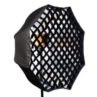 Harga 95cm Flash Softbox Umbrella Brolly Reflector With Grid for Studio Photo Flash