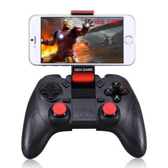 Harga GEN GAME S6 Wireless Bluetooth Game Controller with Clip Holder for IOS Android Smartphone - Black - intl